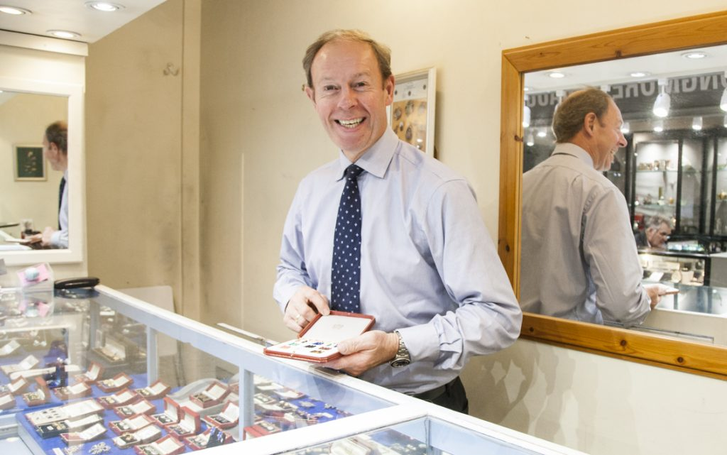 Nigel Norman at his at stand in Grays Antiques Centre.