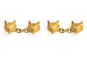 fox head cufflinks