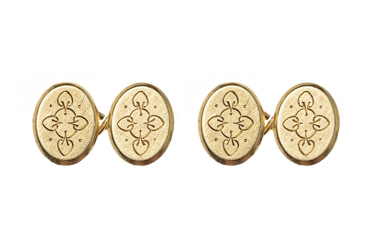 Engraved antique cufflinks