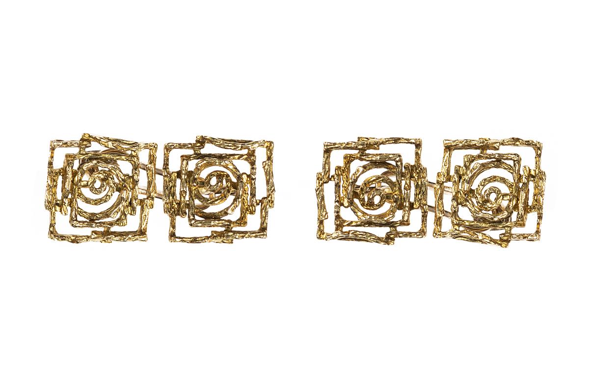 Vintage cufflinks of abstract design