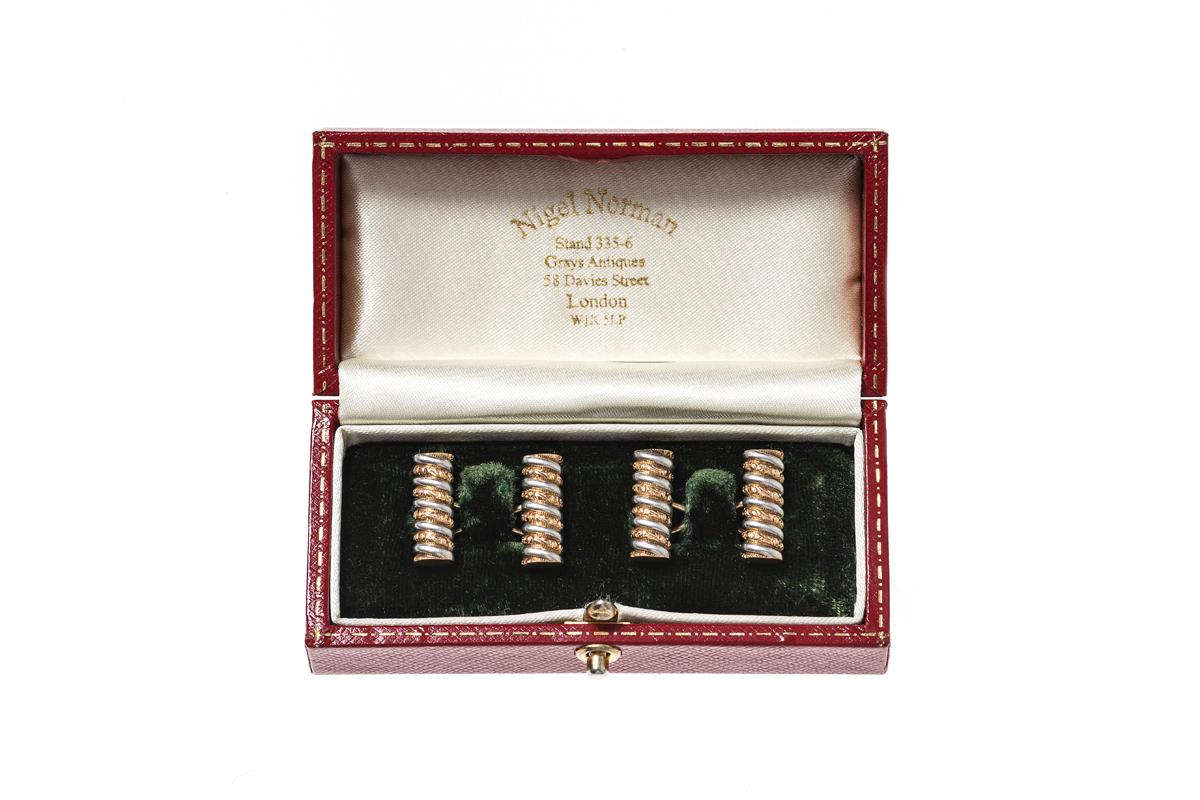Vintage baton cufflinks