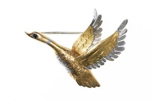 Vintage Brooch of Swan