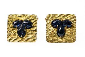 Gold & sapphire cufflinks