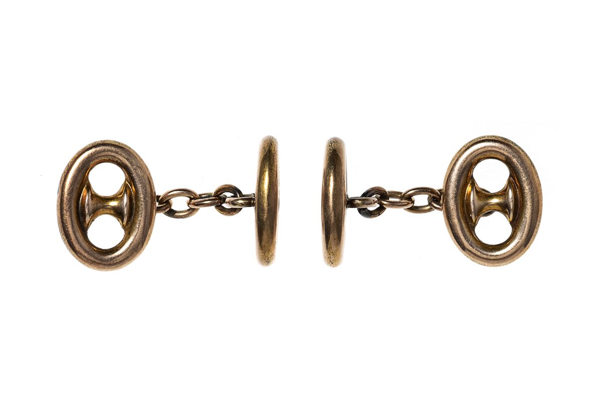 Anchor chain cufflinks