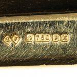 Gold Cricket Bat Brooch